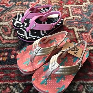 Reef Sandals/Flip flops - Toddler Girl - 7/8 - NWT
